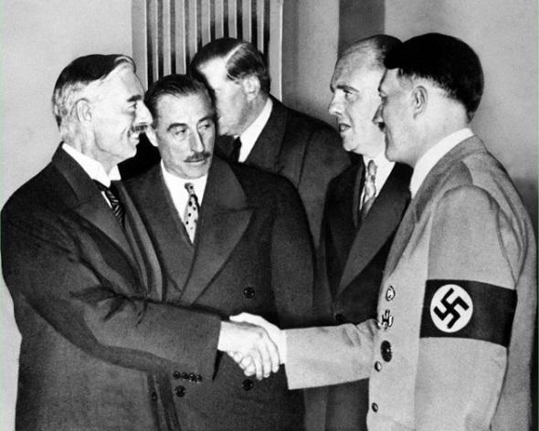 Chamberlain-Meets-Hitler