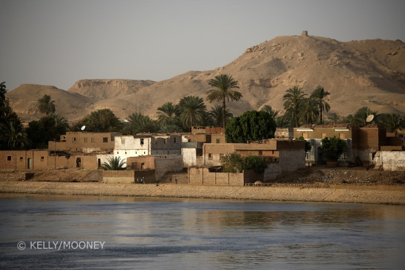 Village in Nile River Valley, Egypt